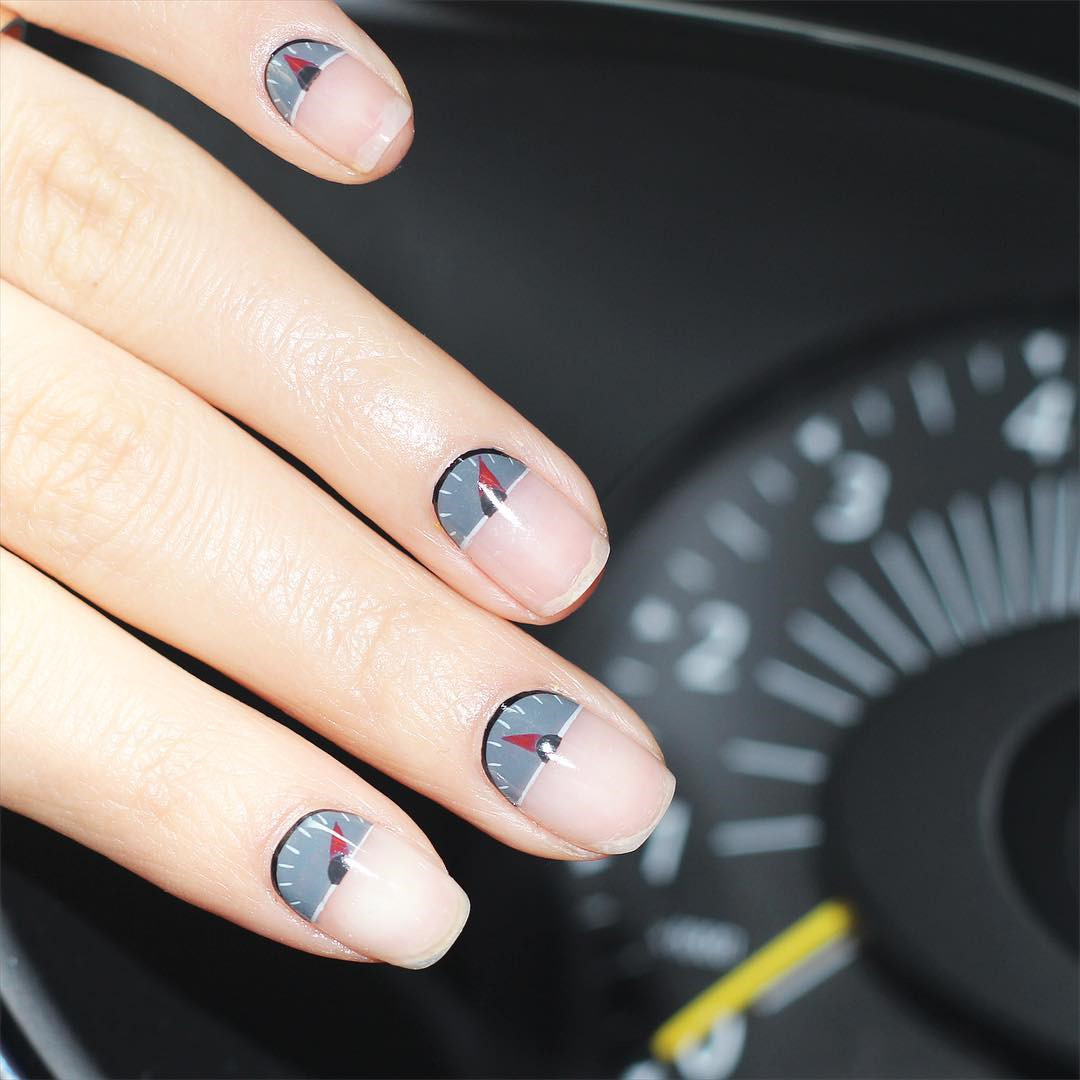 50 Trendy Half Moon Nail Art Designs and Ideas