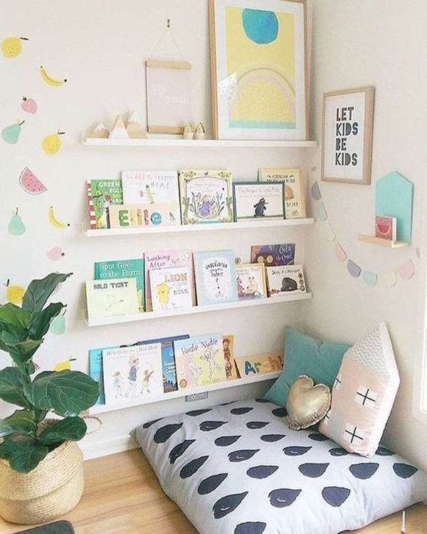 35 Ideas for Creative Reading Corner for Kids