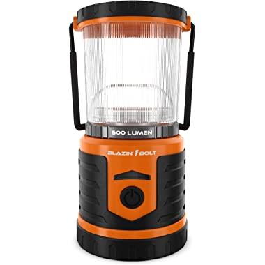 Blazin' Battery LED Rechargeable Lantern | 500 Hour Runtime | Power Bank | Storm Light (600 Lumen, Orange)