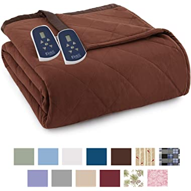 Thermee Micro Flannel Electric Blanket, Cocoa, King