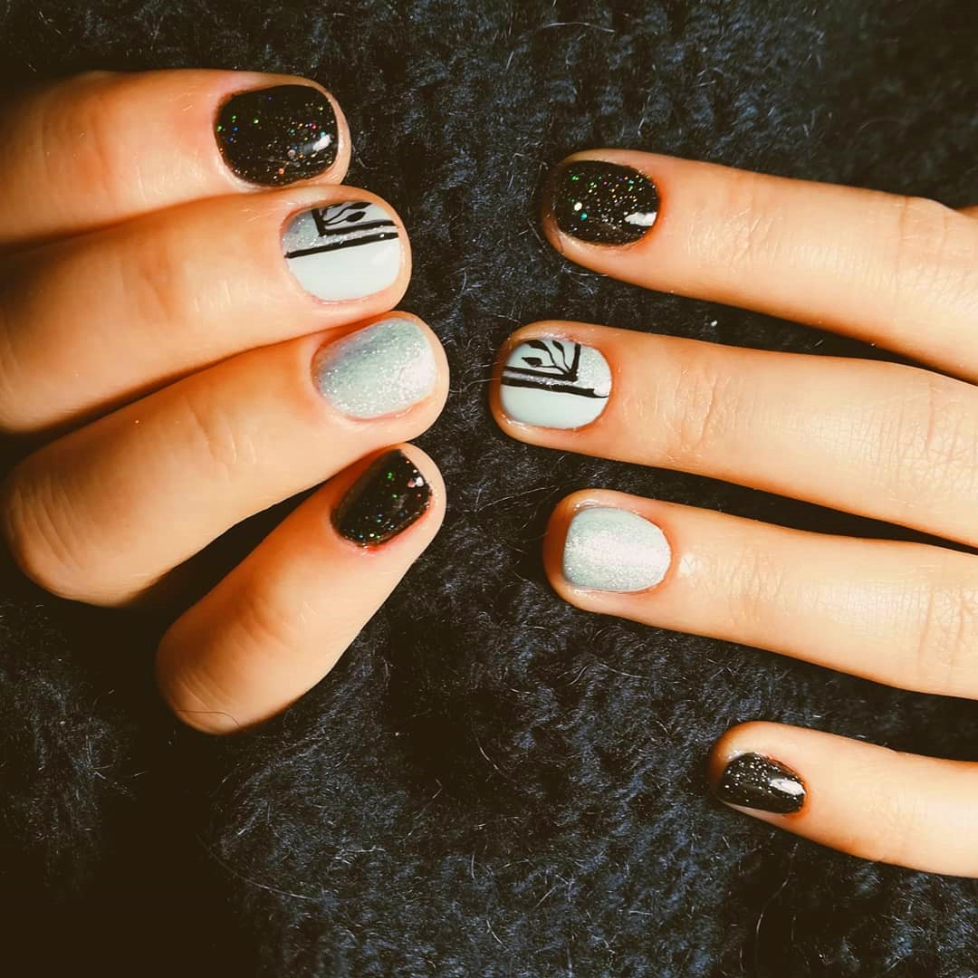 35 Simple Fall Acrylic Nails Designs In 2019