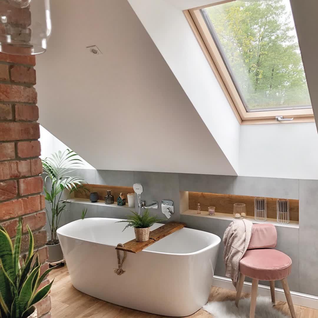 50 Attic Bathrooms to Inspire Your Next Renovation,attic bathroom plumbing,attic bathroom sloped ceiling,attic bathroom cost,attic shower ideas