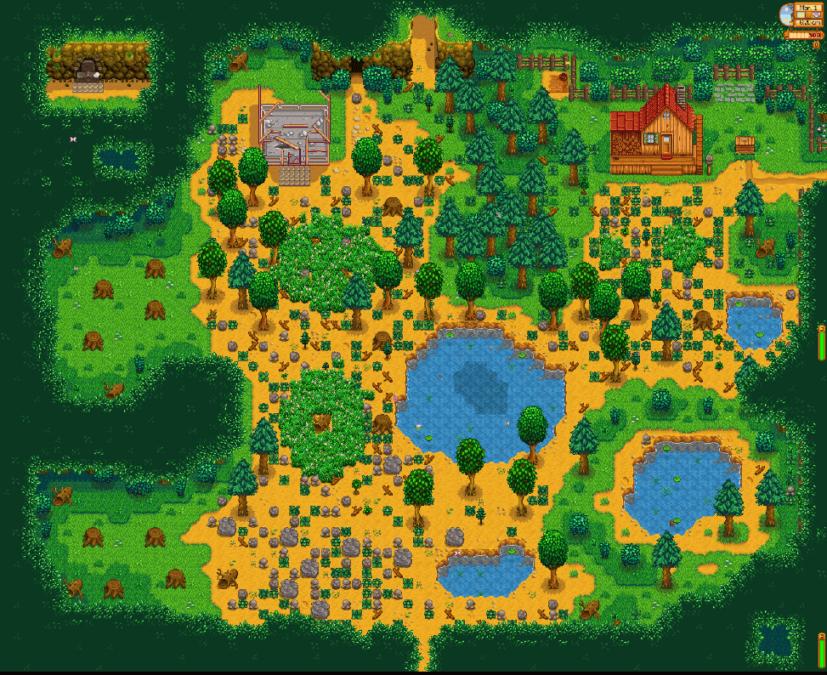 Stardew Valley farm layout Forest
